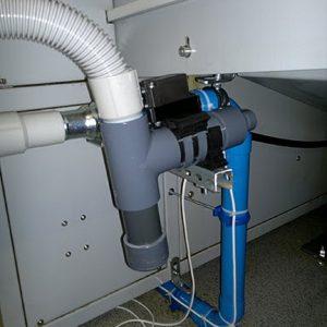 System odsysania po procesie obróbki skrawaniem z funkcją odmuchiwania