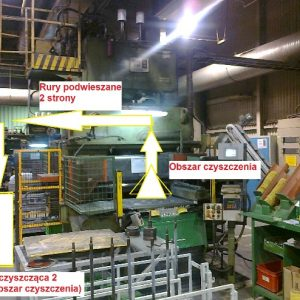 Lokalny system odbioru ścinków przy produkcji materiałów ściernych (proces wykrawania)