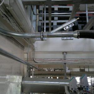 System odpylania materiałów sypkich przy załadunku do mieszarki